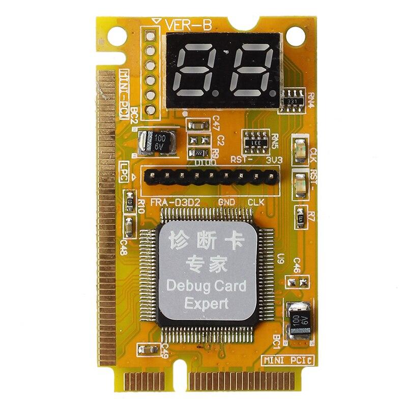 Tarjeta de diagnóstico portátil, Mini PCI/PCI-E LPC de 2 dígitos, comprobador POST analizador