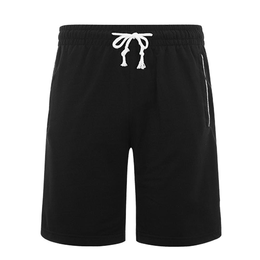Men Summer Shorts Sports pants Men Plus Size Solid Color Drawstring Shorts Fitness Fifth Pants men's shorts