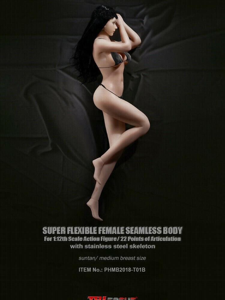 Action figure body model SEXY TBLeague PHMB2018-T01A/B 1/12 scale Flexible Female Suntan/pale Skin Seamless Body Accessories