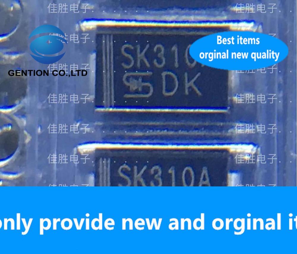 30PCS 100% New original SK310A 3A100V Schottky DO214AC silk screen SK310A