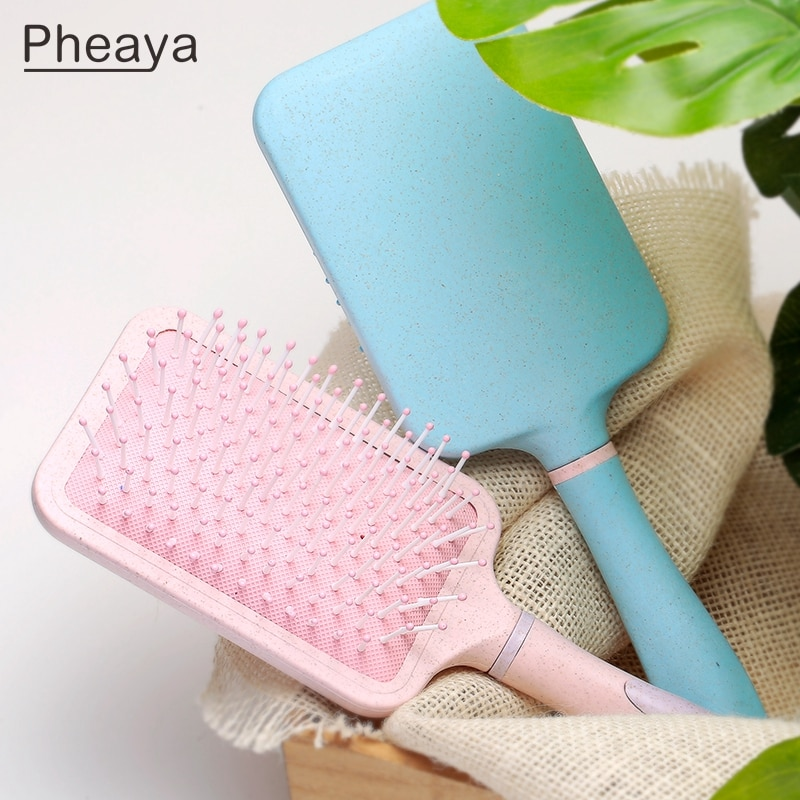 AliExpress - Pheaya Large Plate Comb Color Airbag Comb Haircare Scalp Detangling Hair Brush Styling Tool Women Men Salon Accessories