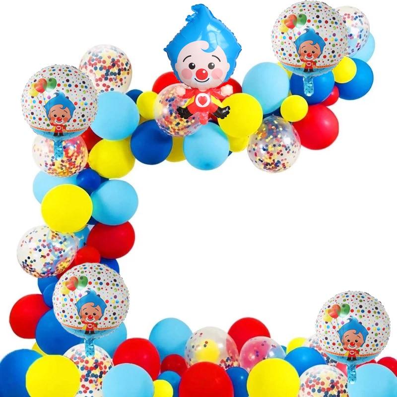 98 шт./компл. Plim, клоун, арка, фотофольга, воздушные шары, латексные воздушные шары, детский день рождения, детские игрушки, мяч