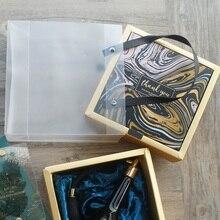 15*15*6.5 سنتيمتر 3 مجموعة الذهب الأسود الرخام شكرا لك تصميم صندوق ورقي حقيبة كما استحمام الطفل عيد ميلاد الزفاف هدية التعبئة والتغليف استخدام