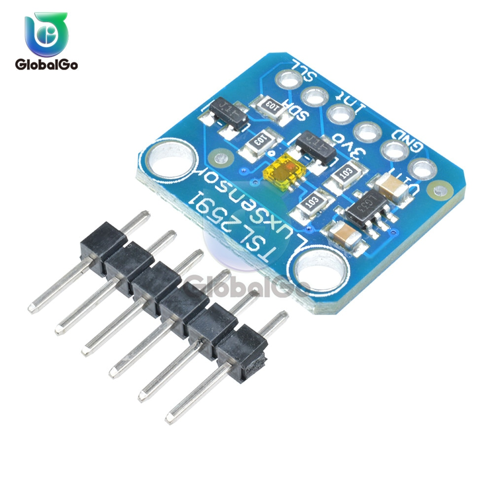 TSL259 Sensor de Luz Placa de Breakout Módulo IIC I2C Alta Faixa Dinâmica Digital TSL25911FN 3.3V 5V