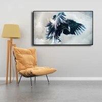 Peinture a lhuile sur toile avec image abstraite daigle de la mariee  Art moderne  affiche murale pour salon et maison