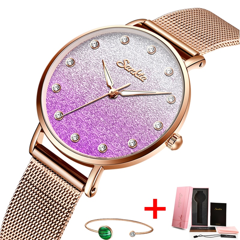 SUNKTA Women Watches Waterproof Brand Luxury Quartz Wrist Watch Dress Fashion Ladies Wristwatches Relogio Feminino Montre Femme enlarge