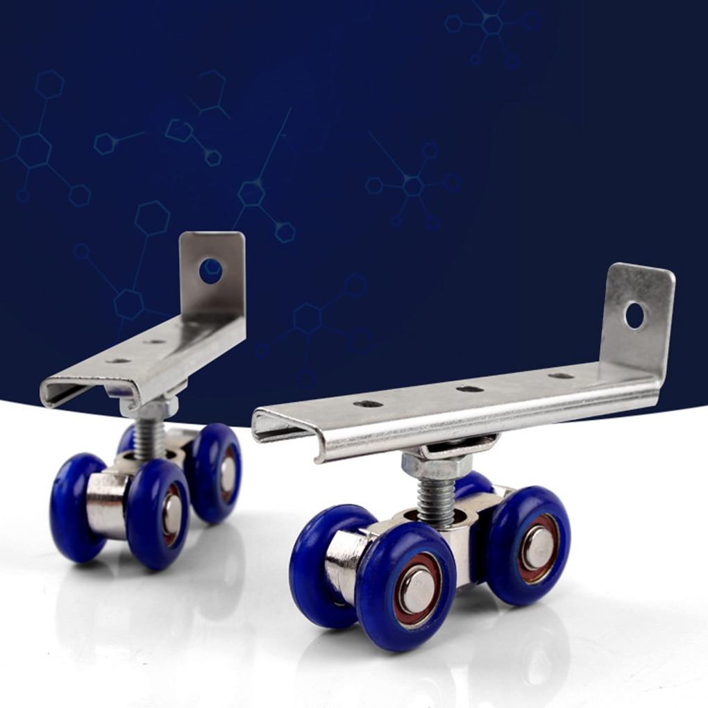 2pcs/set Sliding Door Roller Hardware Slide Doors Pulley 4/8 Wheels Home Room Wood Door Hanging Wheels Rail Track Pulley