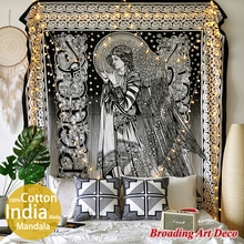 Inde fait à la main Mandala tapisserie tenture murale