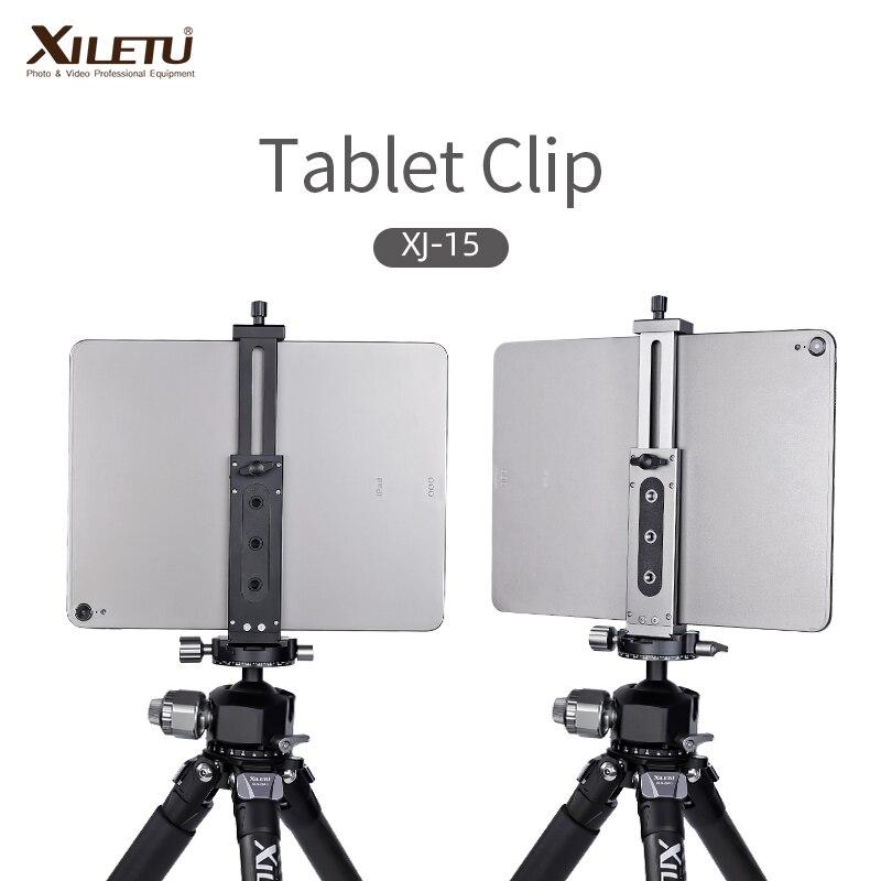XJ-15 Universal Aluminum Alloy Tablet Phone Stand Holder Clip Tripod Adjustable Bracket For Mobile P