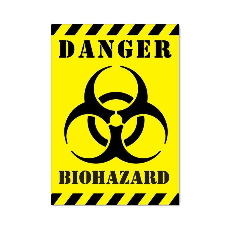 Красивая опасная биохимическая странная Светоотражающая наклейка, ПВХ наклейка на автомобиль с защитой от царапин, подходит для всех видов...