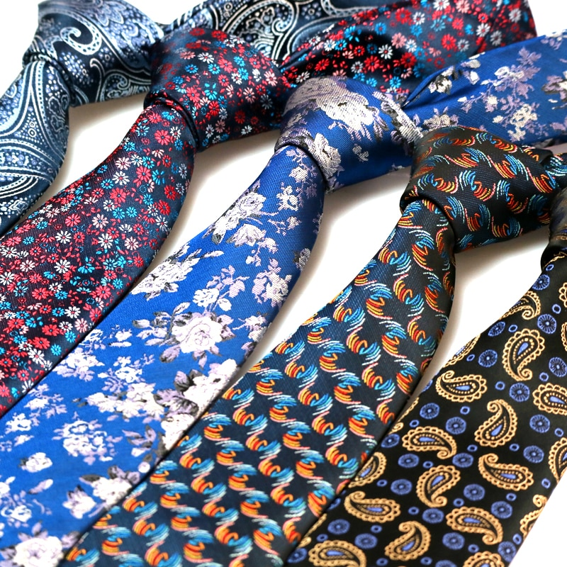 YISHLINE Mens Tie Luxury 7CM Floral Paisley 1200 Needles Man Neck Ties Neckwear bridegroom Wedding Tie  Various Men Accessories недорого