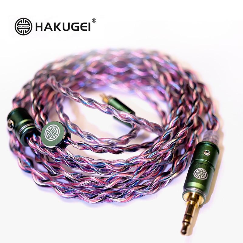 FENGEU-HAKUGEI RAINBOW UNICORN 7NOCC Litz Wire 20awg HiFi earphones Upgrade Cable MMCX 2Pin 0.78 مللي متر A2DC IE80/80S