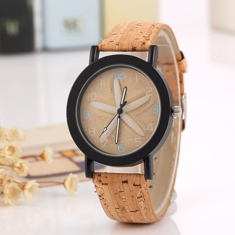 Hot Selling New Colorful Fashion Trend Female Middle School Student Watches Personality Wood Grain Creative Forest Wrist Watch enlarge