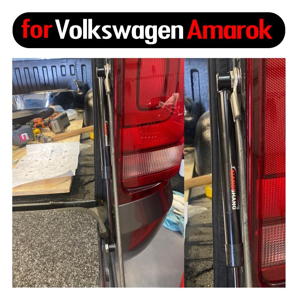 2 قطعة ل Volkswagen Amarok 2011-2019 صدمة مساعدة بيك اب الخلفي الباب الخلفي تبطئ الدعامات الغاز المثبط