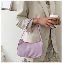 Fashion Design Small Baguette Handbags Women Soft PU Leather Armpit Shoulder Bags Female Vintage Sim