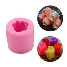 3D Rose Bloemen Siliconen Mallen Zeep Kaars Fondant Mallen Chocolade Gumpaste Icecream Klei Cake Decorating Gereedschap