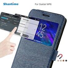 Etui de téléphone en cuir synthétique polyuréthane pour Oukitel WP6 étui à rabat pour Oukitel WP6 vue fenêtre livre étui étui arrière souple en Silicone or polyuréthane thermoplastique