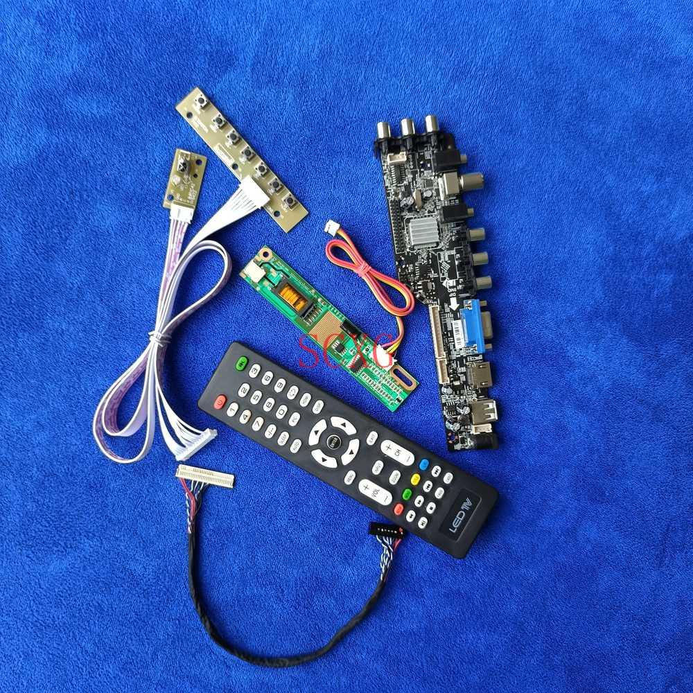 رقمي DVB 30-Pin LVDS USB VGA AV HDMI-متوافق مع عدة 1CCFL 1280*800 لوحة تحكم ل LP154WX2-TL01 LP154WX5-TLA1/TLB1/TLC1