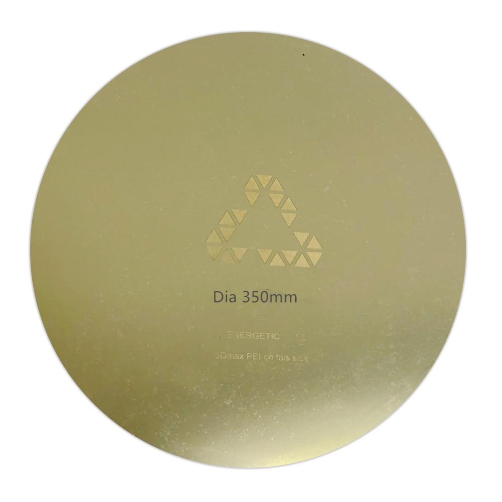 ENERGETIC-طابعة ثلاثية الأبعاد بقطر 350 مللي متر ، Tevo Little Monster ، سرير ساخن ، لوح فولاذي دائري قابل للإزالة ، لوح PEI ، ترقية جديدة
