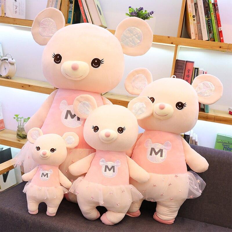 Новое поступление, плюшевая мышь для малышей, игрушка для детей, мягкая набивная мышь-животное, плюшевая игрушка, подарки для детей, украшен...