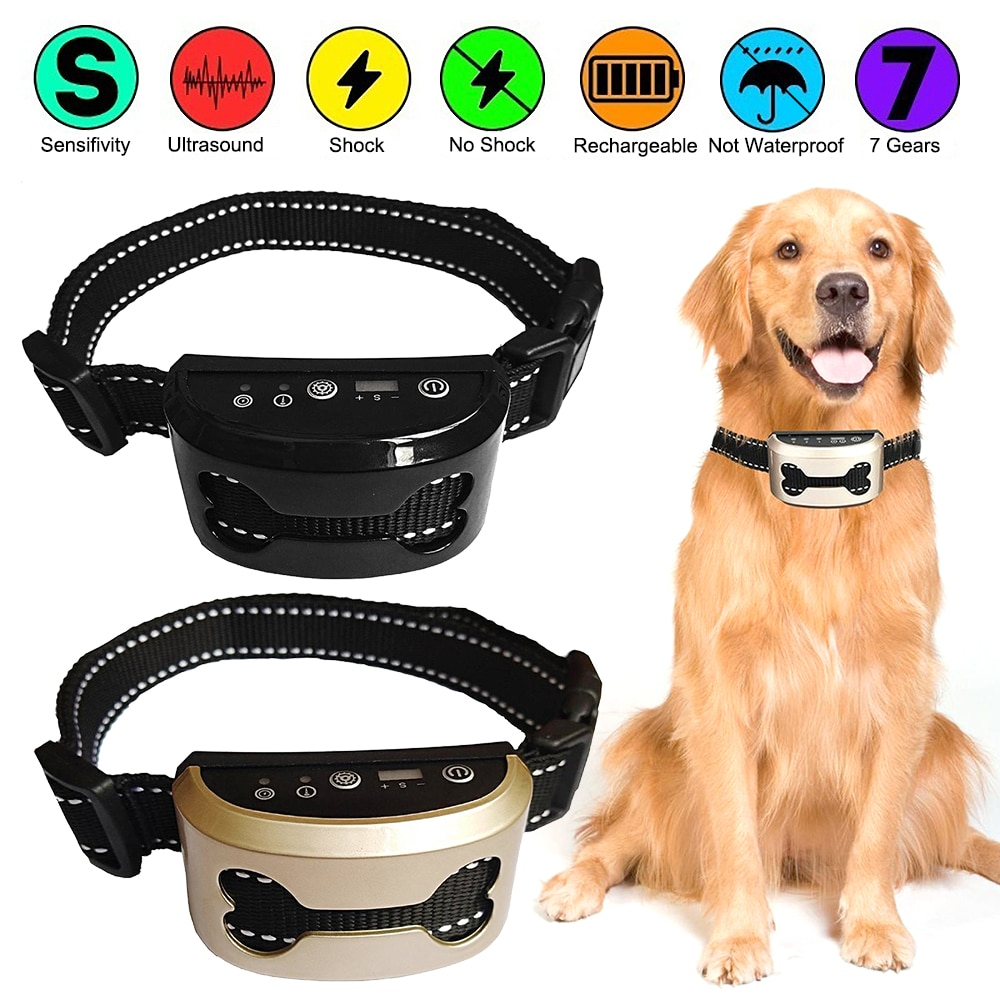 AliExpress - Pet Trainer Dog Stop Barking Control Automatic Effective Rechargeable Dog Bark Vollar Ultrasonic Training Collars For Training