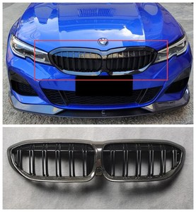 High quality ABS Black & Carbon fiber Mesh Grille Trim Racing Grills Fits For BMW 3 Series G20/G28 2019 2020 2021