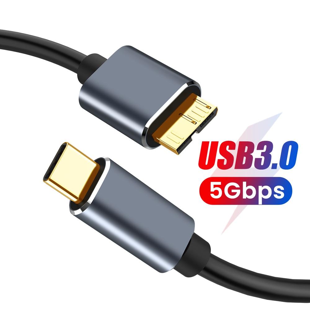Cable USB tipo C a Micro B 3,0 de 3A, adaptador de...