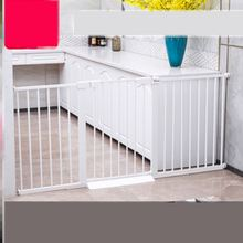 Sécurité infantile et enfant porte escalier clôture de protection intérieur chien isolation porte clôture pour animaux de compagnie poteau de clôture poinçonnage gratuit