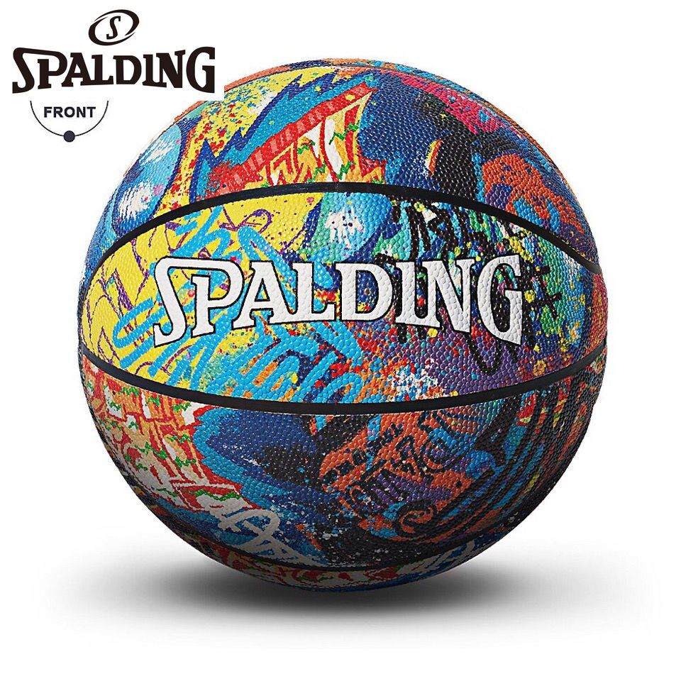 Spalding Basketball Graffiti Official Authentic No. 7 PU Indoor and Outdoor Colorful Trend Basketball