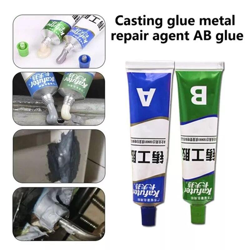 65 г, кафтер A + B, клей для ремонта металла, супер клей, железный, стальной, автомобильный радиатор, резервуар для воды, специальный клей для уте...