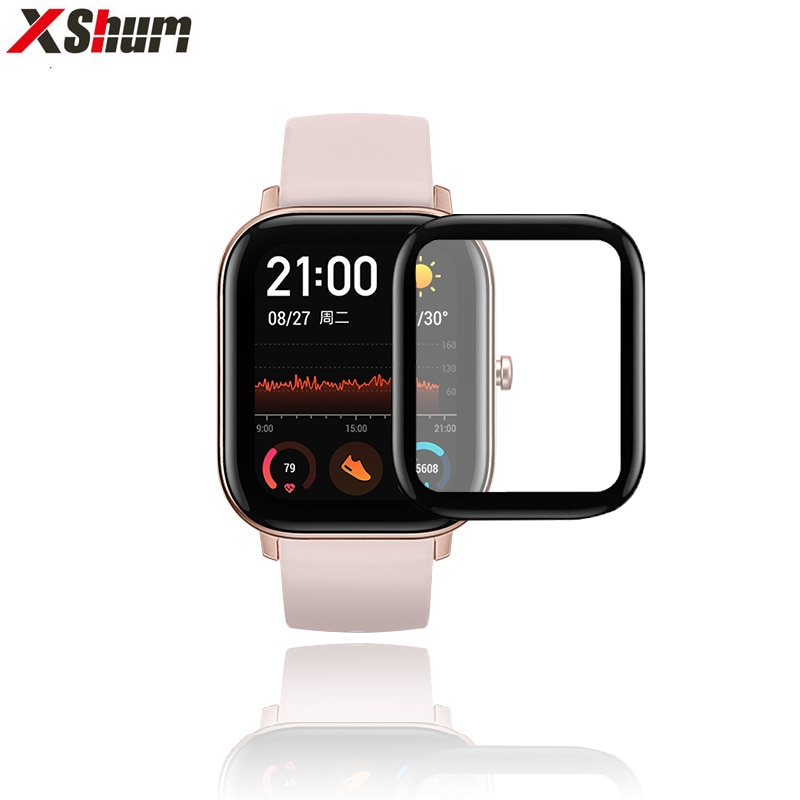 Amazfit GTS Film For Xiaomi Amazfit GTS 2 Mini Screen Protector Fiberglass ultra-thin Protective Full Cover TPU For Accessories
