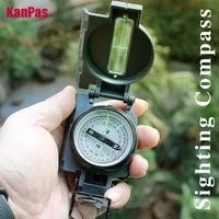 2021new military compass sighting lensatic compass inclinometer compasses professionals for hiking camping outdoor