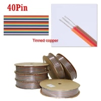 1 meter 1 27mm 40pin dupont cable rainbow flat line support wire soldered connector 40 way pin for arduino pcb diy kit