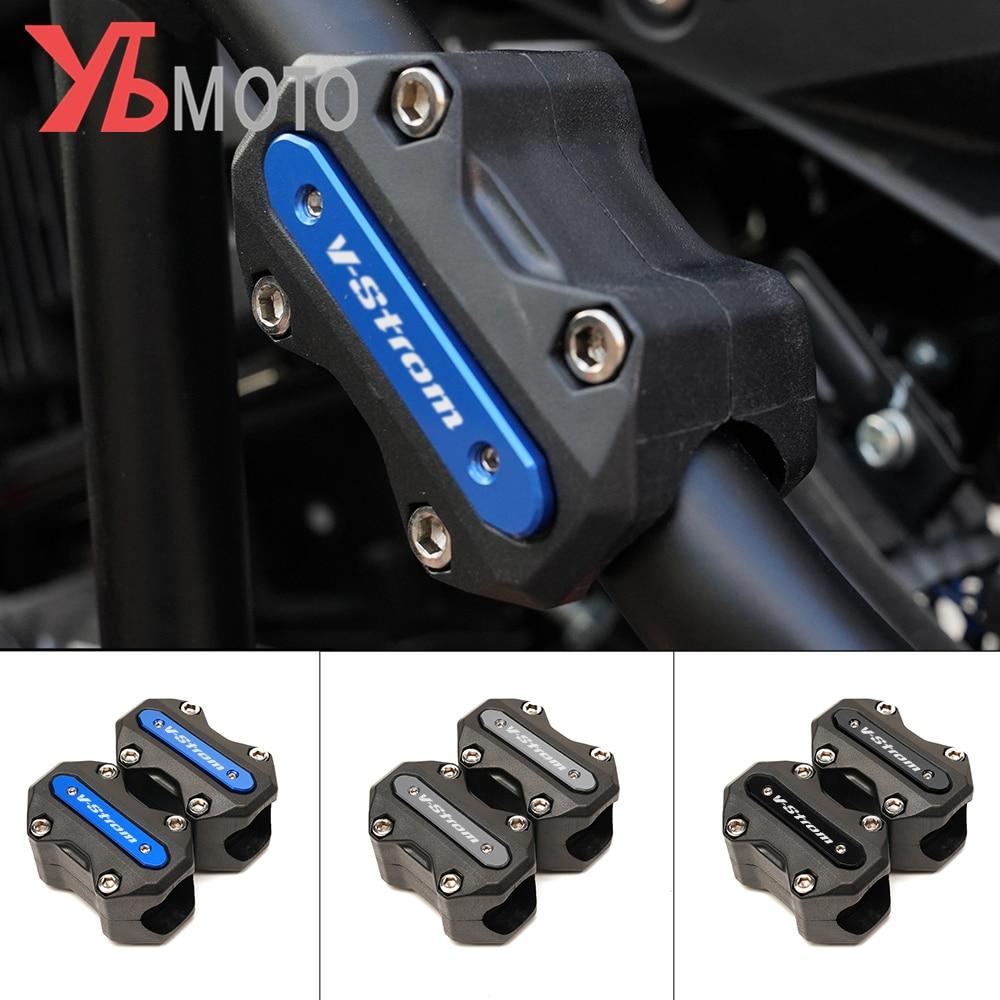 قضبان الصدمات المزخرفة ، حماية المحرك ، مناسبة لسوزوكي DL650 DL1000 Vstrom V-strom 650 1000 1050 /1050/xt