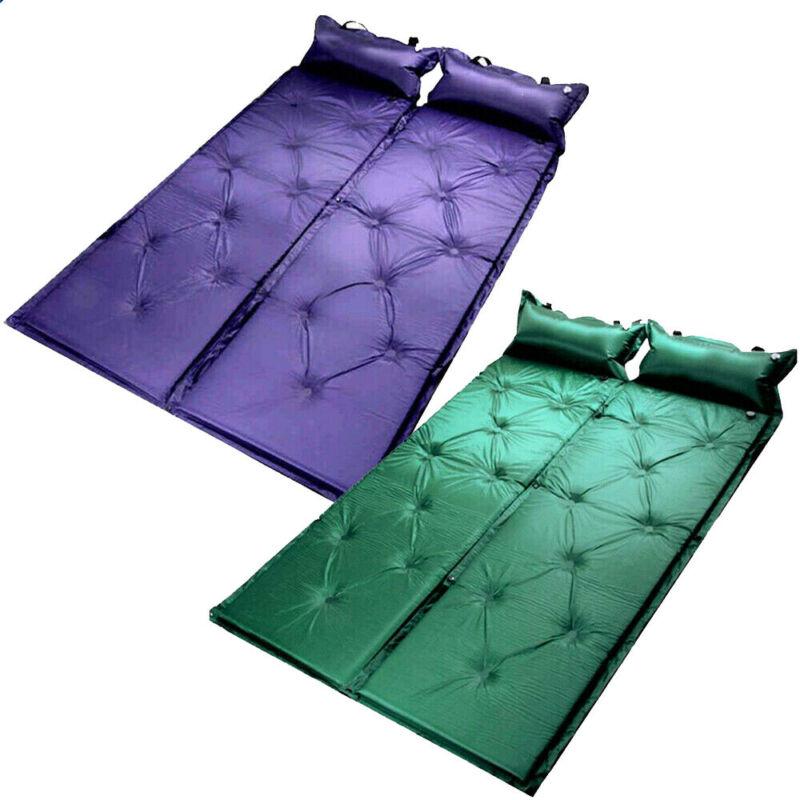 Mais novo portátil ao ar livre inflável almofada de acampamento esteira almofada de dormir colchão de ar
