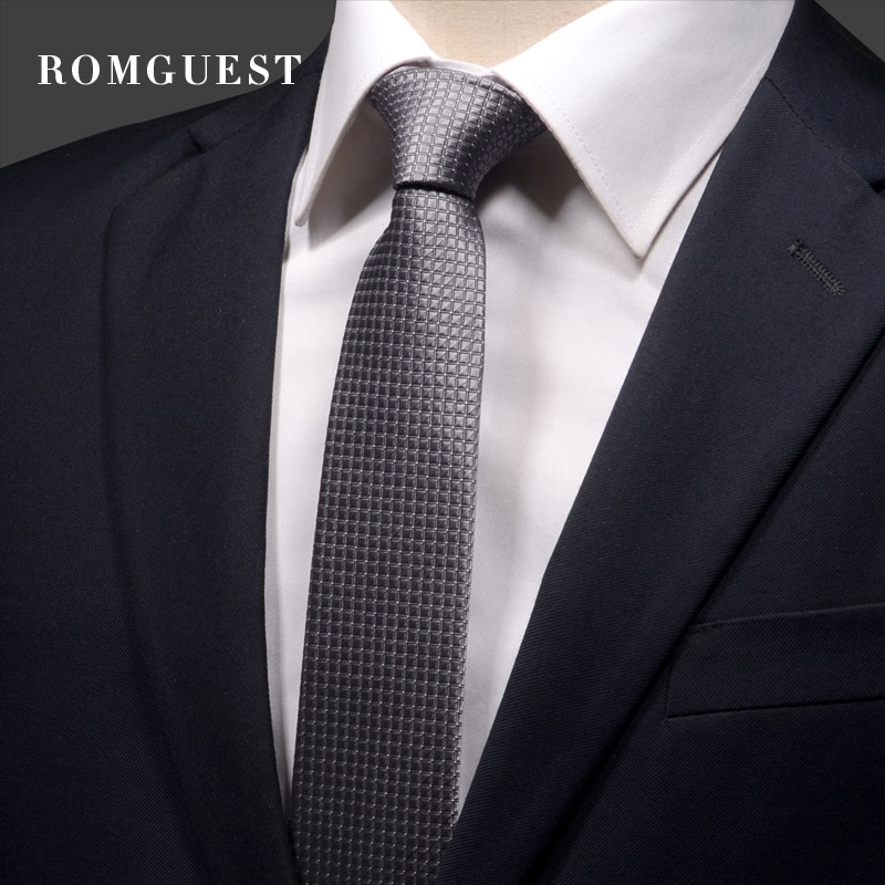 2020 New Arrivals Fashion 6CM Slim Casual Necktie for Men Formal Business Wedding Tie Striped Solid Color Neck Tie with Gift Box