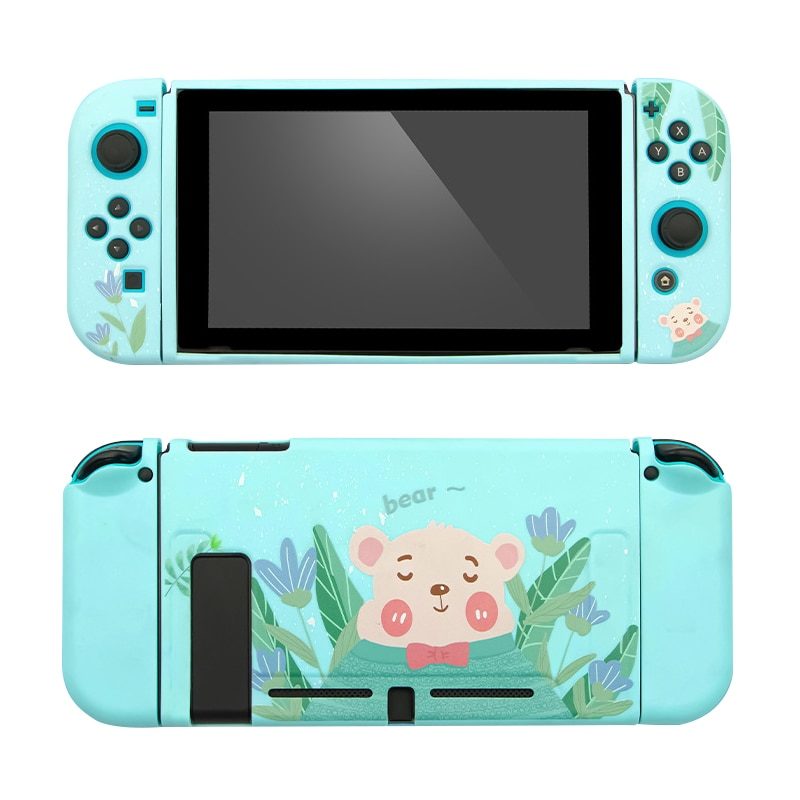 Protective Case Cover for Nintend Switch Split Shell Cute Cartoon Fairy League TPU Soft Cover Back Grip Shell For Nintend Switch