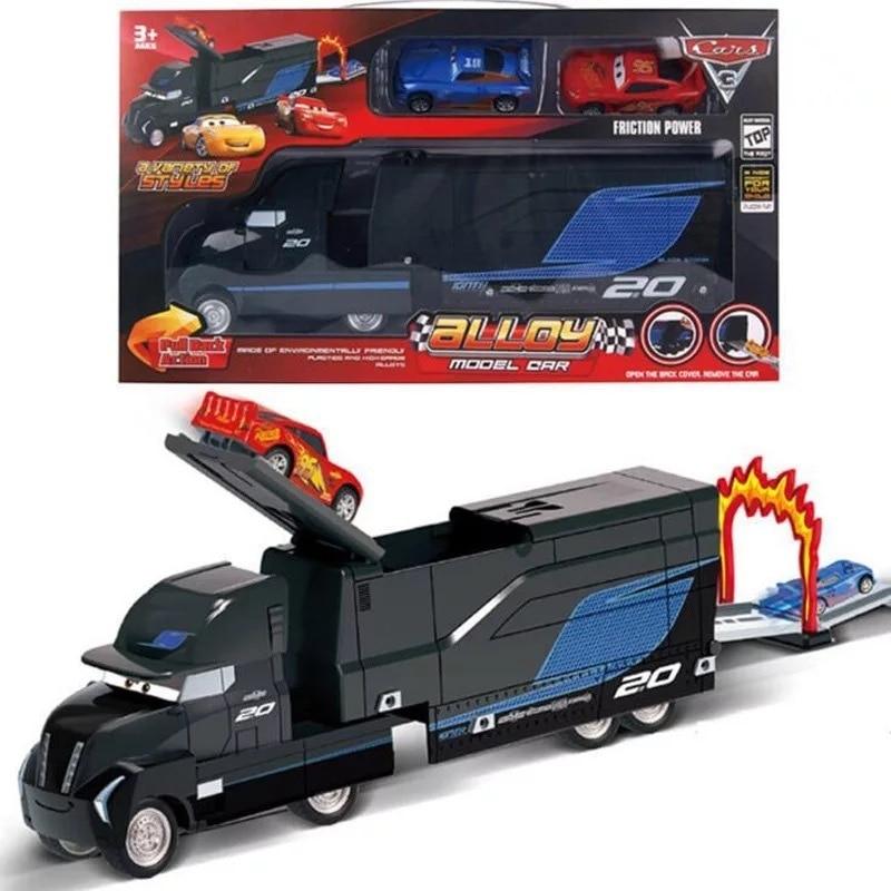 Disney Pixar coches 3 Rayo McQueen Jackson tormenta Cruz Mater Mack tío camión 155 Diecast Metal de modelo de coche de niño regalo juguete