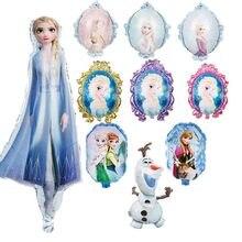 1pc Frozen Elsa Anna Princess Balloon Baby Shower Kids Birthday Party Decoration Double-sided balloo