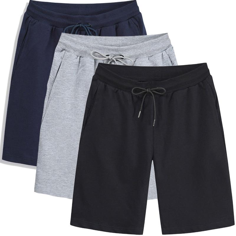 Мужские летние шорты из 2021 хлопка, повседневные мужские шорты с карманами на шнуровке, мужские Модные удобные пляжные брюки