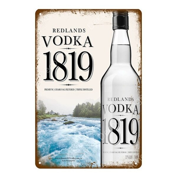 Carteles de Metal de Vodka ruso, póster clásico de Absolut, póster de...