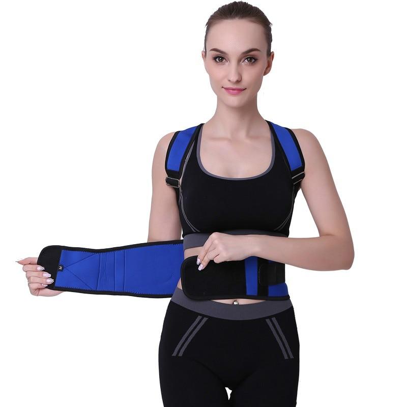Cinturón de soporte de espalda corsé de postura tirantes para espalda soporte de hombro para hombres Corrector de postura BK04