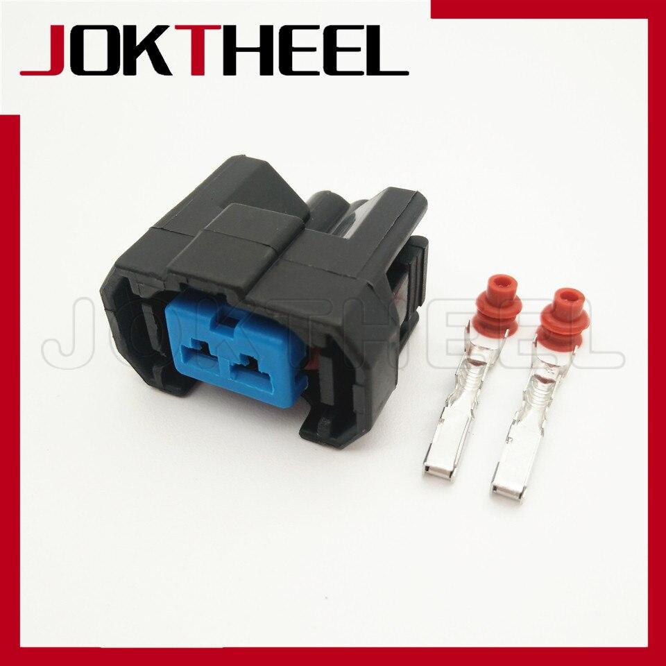 1/5/10/20 juegos kit 2 pin way azul hembra carcasa enchufe inyector de combustible conector de cable automático para Honda CRV 6189-0533