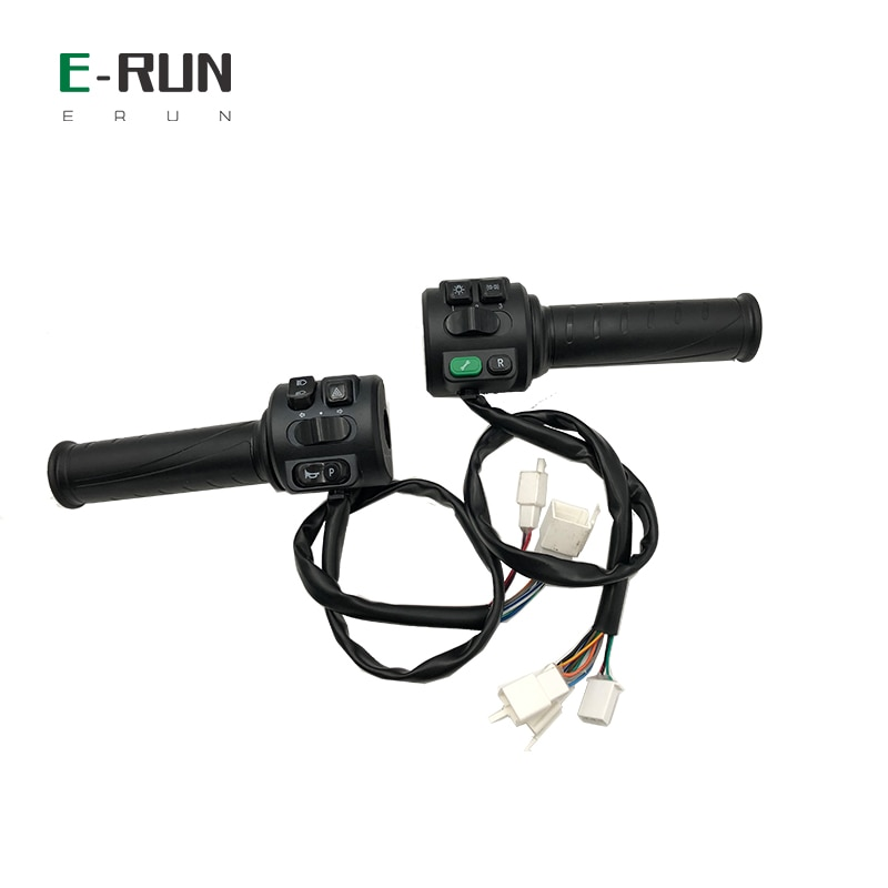 QS138 4KW 80KMH 100KMH PMSM Mid Drive Motor With Programmable EM200S 220A Controller Comb Throttle For Electric Motorcycle enlarge