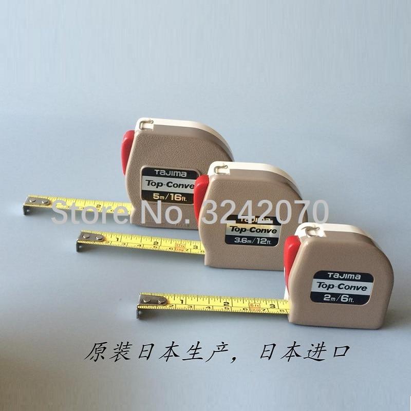 تاجيما TOP-CONVE الذاتي قفل شريط القياس 2 م ، 3.6 م ، 5 م نظام متري/بوصة مصنع الملابس الحياكة مصنع خاص شريط القياس