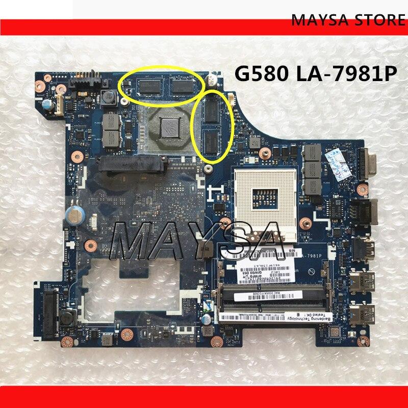 QIWG5 LA-7981P الرئيسي مجلس صالح لينوفو IDEAPAD G580 اللوحة المحمول ، DDR3 ، USB3.0 HDMI