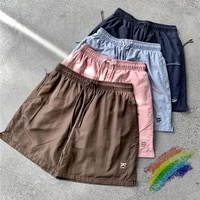 2021ss kith mesh shorts mannen vrouwen 11 hoge kwaliteit patchwork oversize breechcloth ademend trekkoord