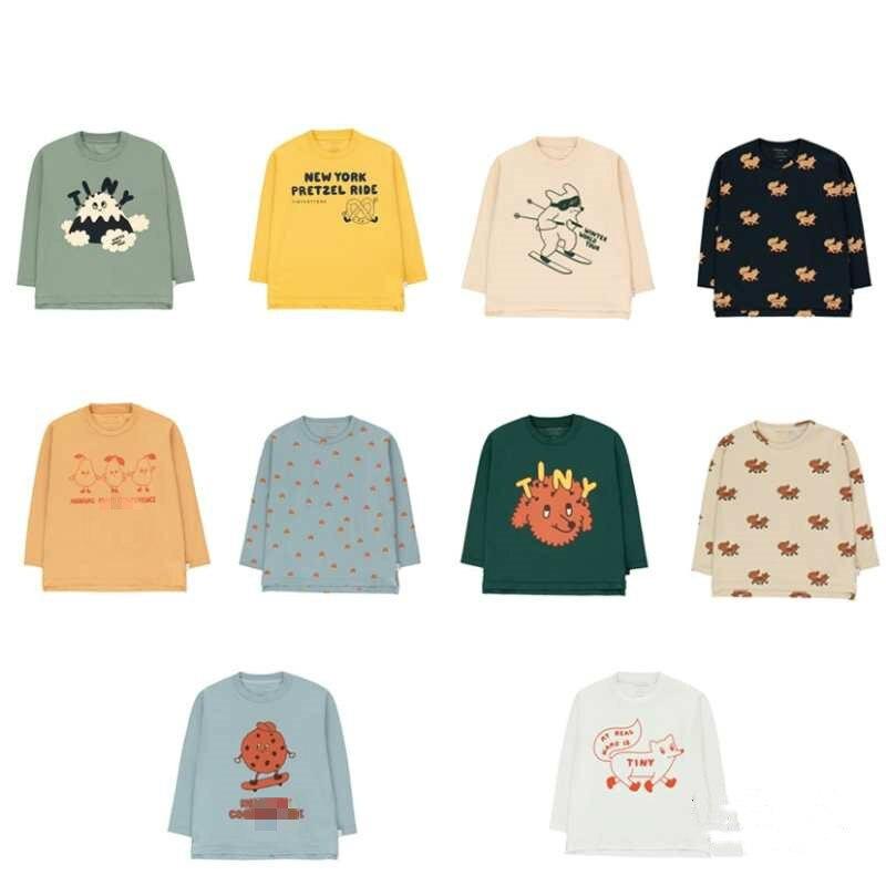 Preventa Ins2020, camiseta de chico de manga larga de otoño e invierno, nueva Camiseta de algodón informal de manga larga con cuello redondo para chicos TC