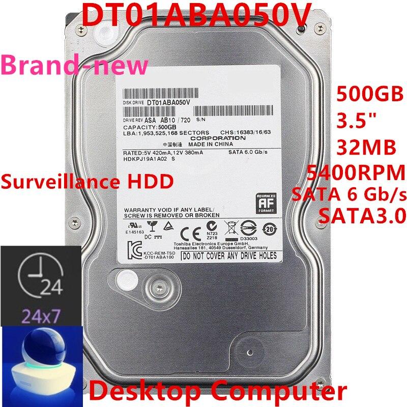 جديد الأصلي HDD لتوتوشيبا 500GB 3.5