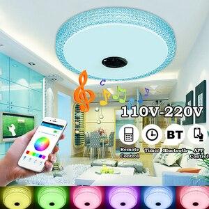 60/36W 110-220V Smart Music Speaker Bedroom Lamps LED Ceiling Light Home Ceiling Light Support Bluetooth APP Remote Control